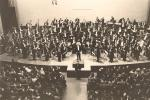 Italian maestro Arturo Toscanini makes his first appearance conducting the NBC Symphony Orchestra